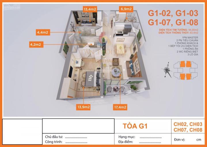 Chú em cần bán lại căn hộ 83.4m2 nguyên bản CDT 2,3 tỷ căn 3PN. Ban công Đông Nam. View thoáng mát ảnh 0