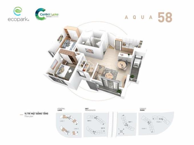 Bán căn hộ 58m2 Lake view nội khu, tầng trung, nhà mới nguyên bản giá 1tỷ650, LH 0328920737 (Zalo) ảnh 0