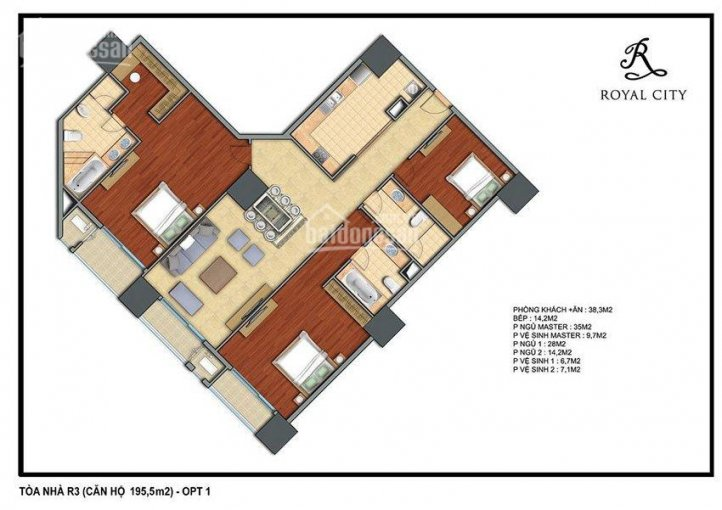 Độc quyền bán căn hộ hoa hậu tòa R3 Royal City cùng Subbaba