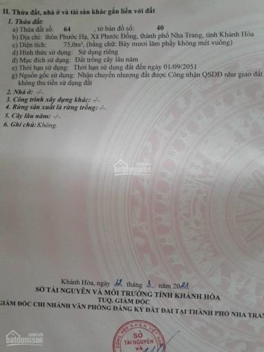 Bán đất thôn Phước Hạ - xã Phước Đồng - DT: 75m2 - Giá bán 470 triệu - LH 0793580578 ảnh 0