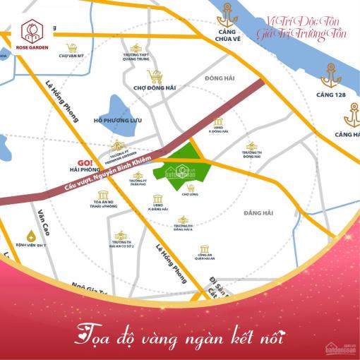 Bán lô đất Rose Garden - Vườn Hồng, Đông Hải, Hải An, vị trí vip - gía ưu đãi LH: 0783.599.666 ảnh 0
