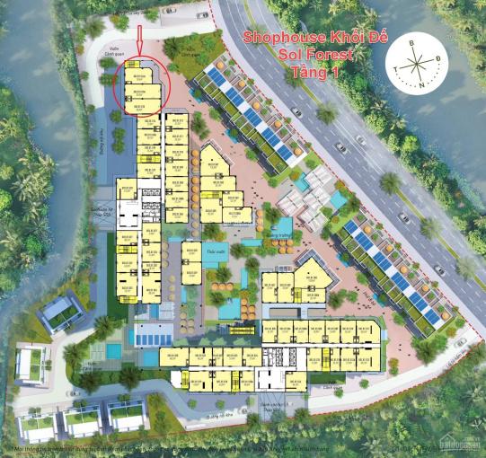 Bán căn Shophouse chân đế/khối đế 3 tầng Sol Forest có 193m2 sân vườn siêu VIP, tại KĐT Ecopark ảnh 0