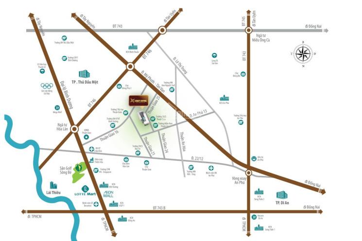 Hot chỉ 125 triệu sở hữu căn hộ mặt tiền Thuận An ảnh 0