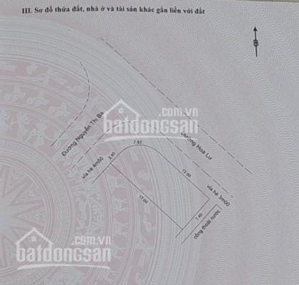 Bán lô góc 2 mặt tiền đường Nguyễn Thị Ba - Hoa Lư. DT: 121m2, khu dân cư đông đúc, giá 4,8 tỷ ảnh 0