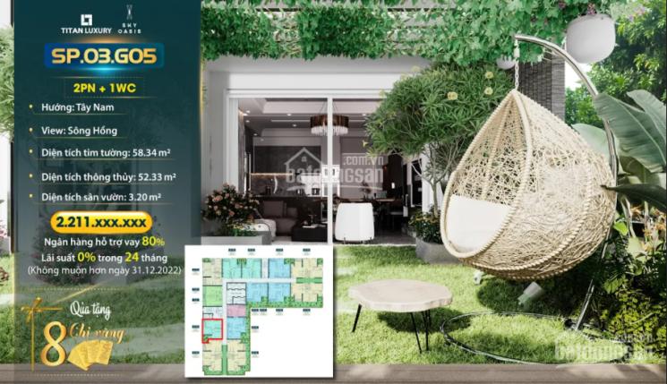 Tặng 8 chỉ vàng khi mua căn hộ ban công sân vườn 2PN 1VS, hỗ trợ vay 80% trong 24 tháng 0% lãi suất ảnh 0