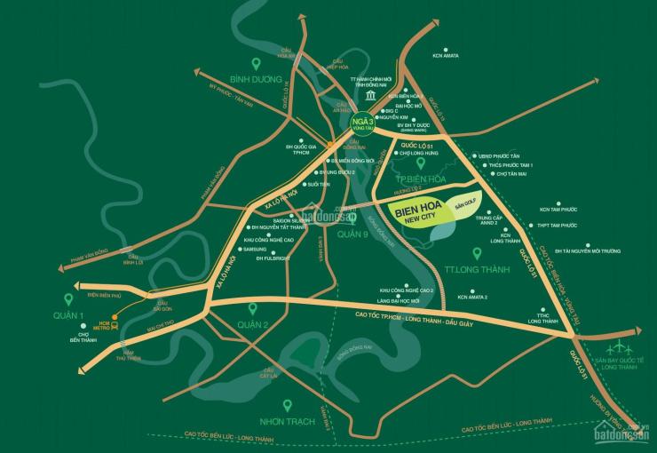 Đất nền biệt thự Biên Hòa New City, kế bên Aqua City, giá chỉ từ 15 triệu/m2 ảnh 0