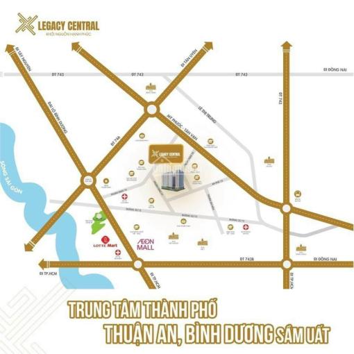 Nhận giữ chỗ căn hộ Legacy Central giá rẻ tại trung tâm TP Thuận An, giá từ 900 triệu trả trước 25% ảnh 0