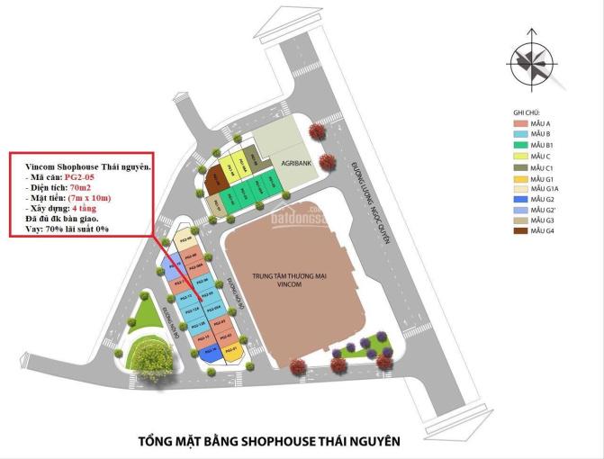 Bán suất ngoại giao Shophouse Vincom Thái Nguyên, diện tích 70m, giá 5,xx tỷ. LH 0976912495 ảnh 0