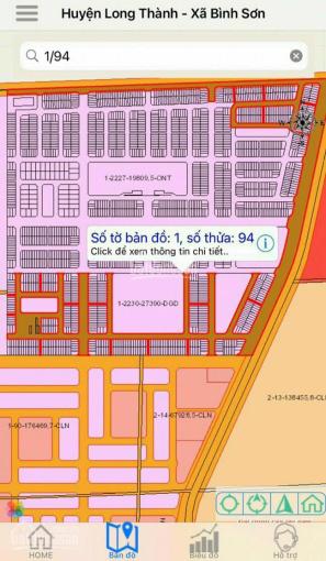 Đất nền sân bay long thành, mặt đường ĐT 769, thổ cư, sổ riêng, giáp tái định cư giá 17.2tr/m2 ảnh 0
