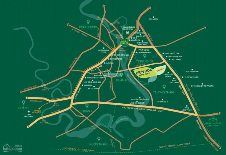 BH New City - đất nền biệt thự đồi view sân golf Long Thành, thổ cư 100%, giá chỉ từ 15tr/m2 ảnh 0