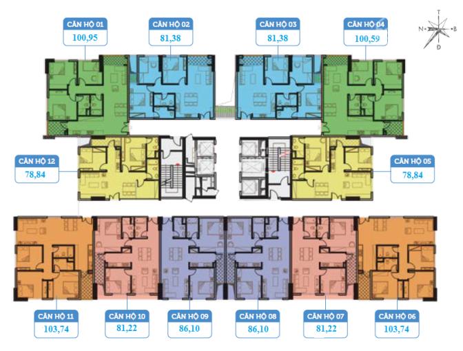 Bán cắt lỗ căn 2PN 79m2 giá 1 tỷ 8 dự án Smile Building số 1 Nguyễn Cảnh Dị, LH 0867 033 683 ảnh 0