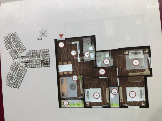 Cần bán căn hộ số 18 tầng trung nhìn xuống mặt đường Võ Nguyên Giáp và bể bơi, 3PN. 0982243398 ảnh 0