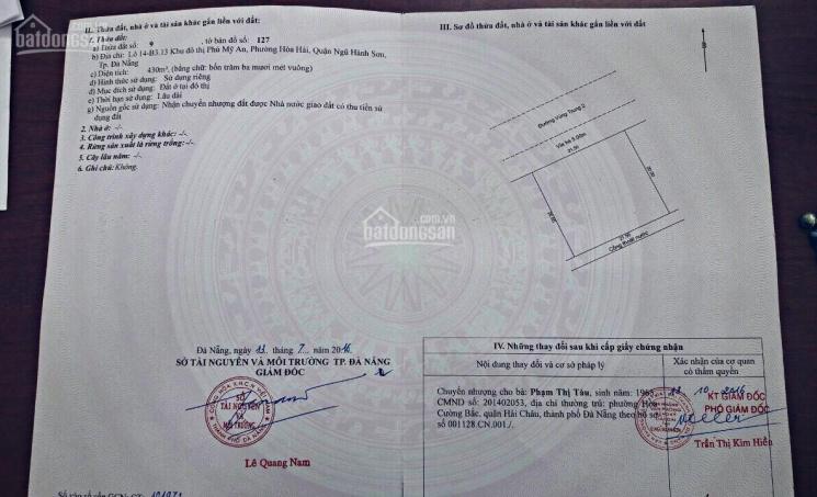 Bán đất đường Vùng Trung 2 Ngũ Hành Sơn Đà Nẵng - Lô Đất Biệt Thự 430m, giá đầu tư ảnh 0