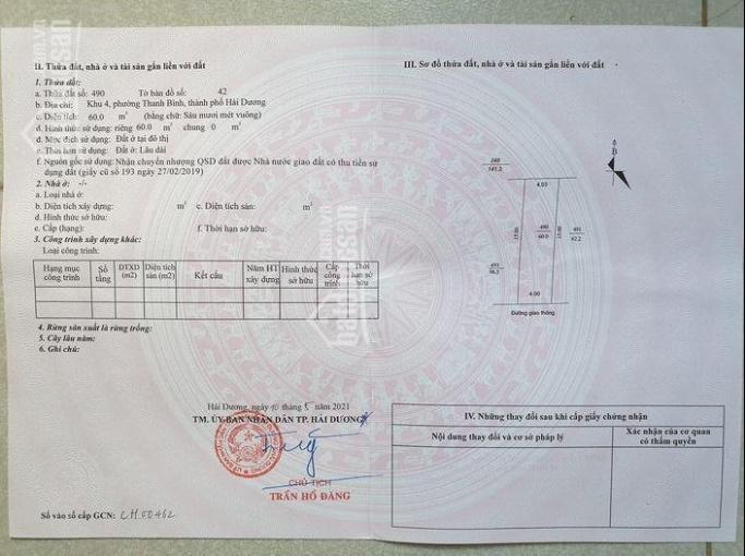 Bán đất khu Thanh Bình, ngõ ô tô ảnh 0