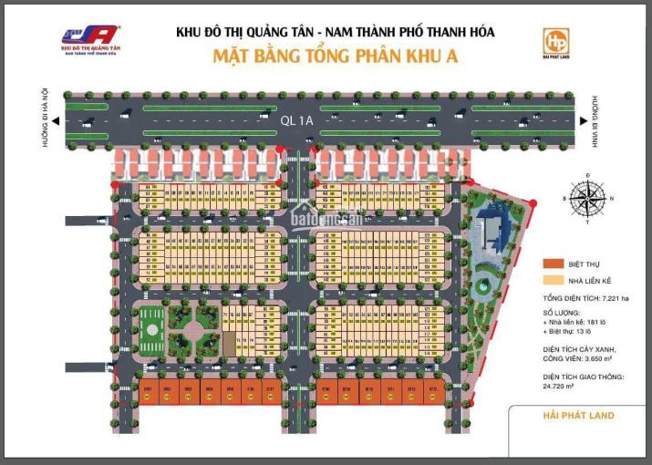 Bán lô đất thuộc KĐT Quảng Tân Thanh Hóa nằm sát Quốc Lộ 1A giá đầu tư tốt hơn đất đấu giá ảnh 0