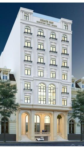 Cho thuê tòa nhà 9 tầng có hầm mới XD MP Hoàng Quốc Việt, DTSD 2700m2 thông sàn KD tốt giá 380tr/th ảnh 0