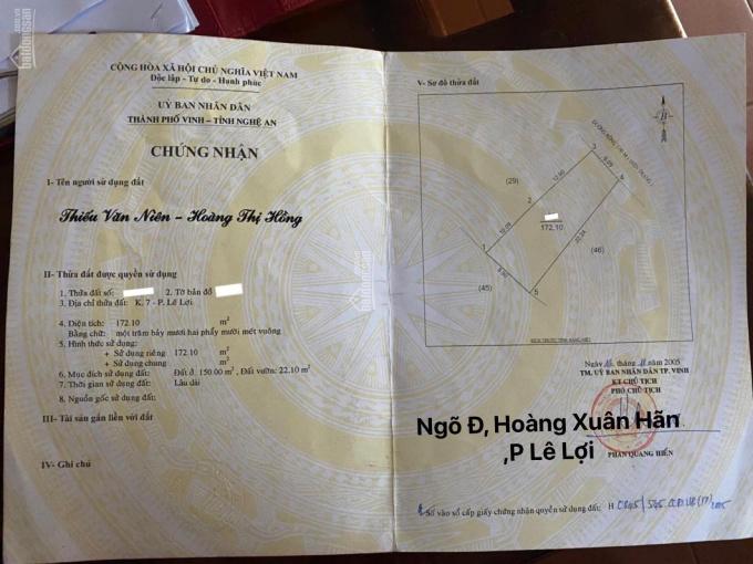 Bán đất tặng nhà c4 ngõ đường Hoàng Xuân Hãn 0392868561 ảnh 0
