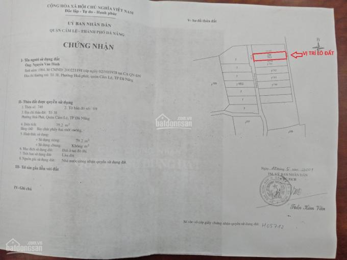Chính chủ bán lô đất kiệt 545 Tôn Đản. LH 0987901827 ảnh 0