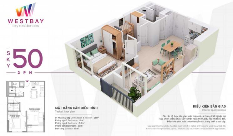 Bán căn hộ 50m2 tầng trung, view hồ thiên Nga, vịnh Aquabay, nội thất mới, 1.65tỷ bp, LH 0328920737 ảnh 0