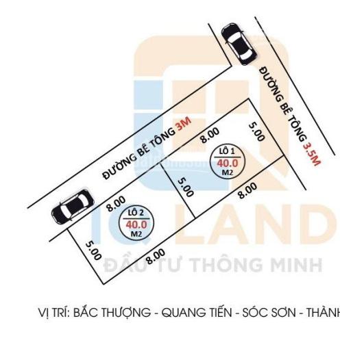 429tr - 40m2 ấp Bắc Thượng - Quang Tiến - Sóc Sơn - Hà Nội ô tô vào ảnh 0