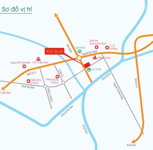 Nhà phố 4 tầng, view chợ, trung tâm thị xã Bình Minh ảnh 0