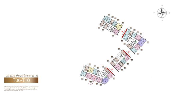 Quỹ căn độc quyền 2PN, T7 - 2905A, diện tích 69,74m2, view 1. Giá đợt 1 chủ đầu tư ảnh 0