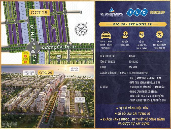 Đất nền OCT FLC (đất xây khách sạn, đã có giấy phép,sổ đỏ lâu dài) - gọi: 0966 343 969 ảnh 0