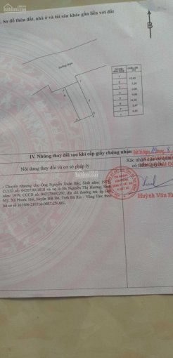Đất khu tái định cư ngay chợ Lộc An, đã có sổ riêng, DT 123.1m2. LH 0908328568 ảnh 0
